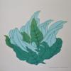 """Fern dance"" - Reduction linocut - 1/5"