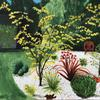 Japanese Garden bed, acrylic on paper (prints available)