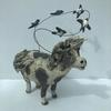 'Whistle down the wind'. Stoneware ceramic pony and swallows sculpture. 20cm. £120
