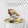 Handmade Ceramic Frostproof baby with toy rabbit/  Garden or home  Size; 17 x 32 x 25 cm