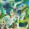 'Beech Tree' Mixed media oil painting 120x120cm