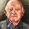 Ben Helfgott part of a series of Portraits of Oil paintings of Holocaust survivors. Helfgott was also an ex Olympic Champion.