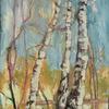 Birch Lines, 40x50cm