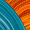 Blue and Orange Arcs