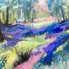 Bluebell Wood - Acrylic on Wooden Panel 35 x 28 cm