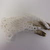 Bone china knitted glove with iron oxide