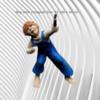 """Handmade Garden Feature  Frostproof """"Boy with a Cartapult Size: 43 x 36 x 34 cm"""