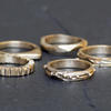 Bronze wax cast rings