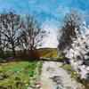 Bursting Blossom, oil on canvas, 30cm x 24cm, nfs