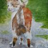 Butter wouldn't melt.....  / acrylic on block canvas