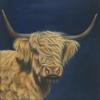 Jo Chesney - Buttercup. Highland Cow Painting. Acrylic Painting