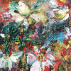 """Butterfly Abstract (Acrylic Mixed Media on Paper Approx size 14"""" x 10"""")"""