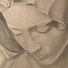 """Graphite Pencil """"Mary In Prayer"""""""
