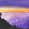 'Purple Sunset' acrylic on canvas