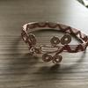 Wire Wrapped Rose Gold Coloured Copper Wire Bangle