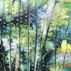"Calm woods, acrylic on canvas 16""x16"" (Giclee prints available)"