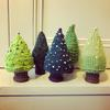 Knitted Decorations - Small Christmas Trees