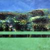'Cellular Landscape Lush Green'  Mixed Media on Board  60x42cm