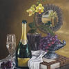 """Champagne tribute""-Original oil painting by Sabbi Gavrailov | Fine Art | 2021"