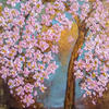 """Cherry Blossoms"" An Impasto Acrylic Painting by Artist Loren"