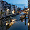 """Boatman... Taken in Chioggia after sunset in the """"blue hour"""", processed to resemble water colour."""