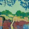 Boundary Path - Acrylic on ply board 67 x 67cm framed