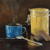 """""""Coffee and Biscuits""""-Original oil painting by Sabbi Gavrailov 