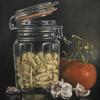 """Cook Italian""-Original oil painting by Sabbi Gavrailov | Fine Art | 2021"