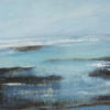 """Coramandel"" mixed media 172 x 72 cms.  On canvas framed £400"