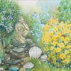 'Corner of the Artist's garden' watercolour