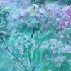 A small section from a hedgerow study. Acrylic; full painting size 28 x 42cm.