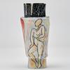 Porcelain People Vessels, Cubism, 16cm tall x 8cm wide