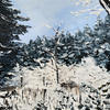 Forest in the Snow // Acrylic on Stretched Canvas (46 x 35 cm)
