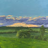 Distant Rain // Acrylic on Stretched Canvas (46 x 61 cm)