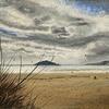 Kite Surfers at Bantham Beach - acrylics