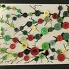 Button art on Acrylic tree