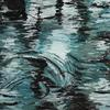 Part of my new 'Reflections in Water' series. Acrylics on canvas. 40 x 40 cm