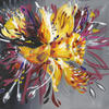 Daffodil Surprise (50x40cm) Vibrant abstract flower painting,  acrylic on canvas