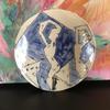 Porcelain Platter. Dancers. Wall hanging option available. 18cm wide