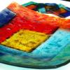 Glass bowl with coasters 2010 (commission) - slumped and fused glass