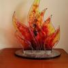 Flame III 2017 (commission) - fused glass in aluminium frame