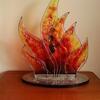 Flame III 2017 (commission) - fused glass in aluminium frame