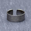 Oxidised sterling silver cuff ring