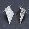 Sterling silver lace textured earrings