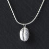 Sterling silver coffee bean necklace