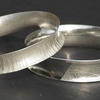 Sterling silver anticlastic bangles