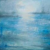 Estuary Moonlight - 80x55cms - acrylic/framed