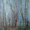 Winter Woodland - 40x26cms - acrylic on wood/framed