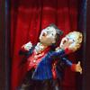 stage ,singers,men sculpture,whimsy,theatre,singing,musical ,ceramic