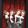 stage ,singers,women,females, sculpture,whimsy,theatre,singing,musical ,ceramic